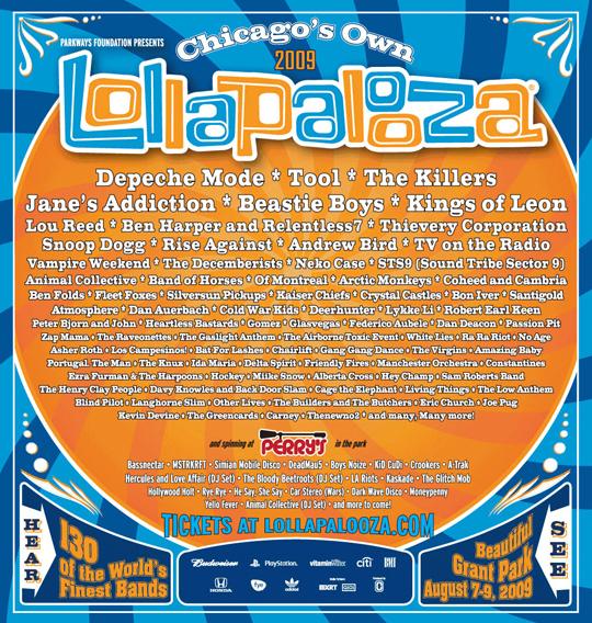 lollapaloozalineup2009
