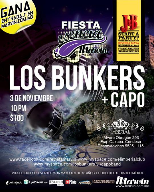 Boletos para fiesta Esencia Marvin Los Bunkers + Capo - Me hace ruido