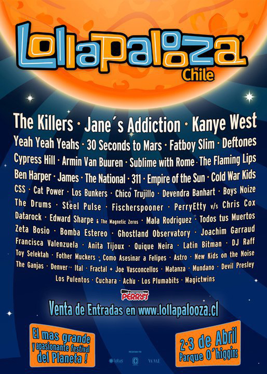 lollapaloozachile2011cartel