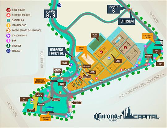 Horarios para el corona capital 2013 me hace ruido for Puerta 2 autodromo hermanos rodriguez