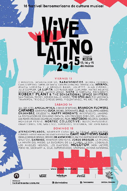 Cartel Horarios Vive Latino Vive-latino-2015-cartel