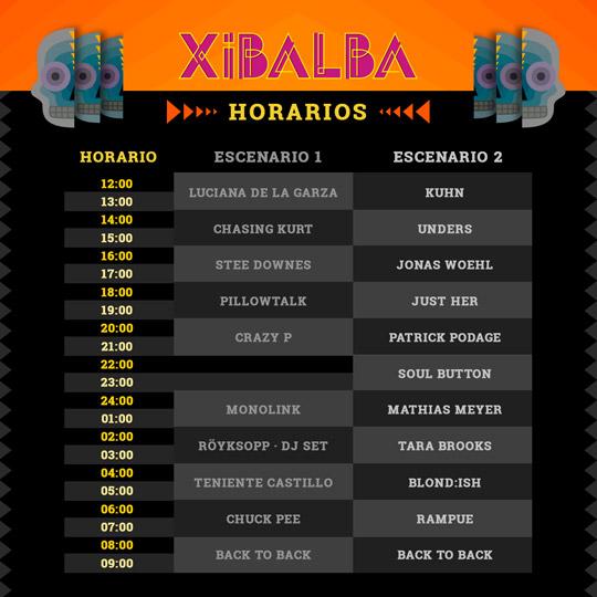 xibalba-horarios