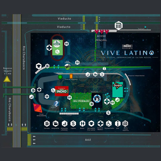 Horarios vive latino 2017 me hace ruido for Puerta 15 foro sol