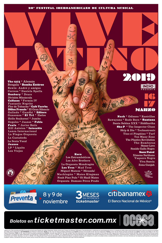 Resultado de imagen para vive latino 2019 cartel