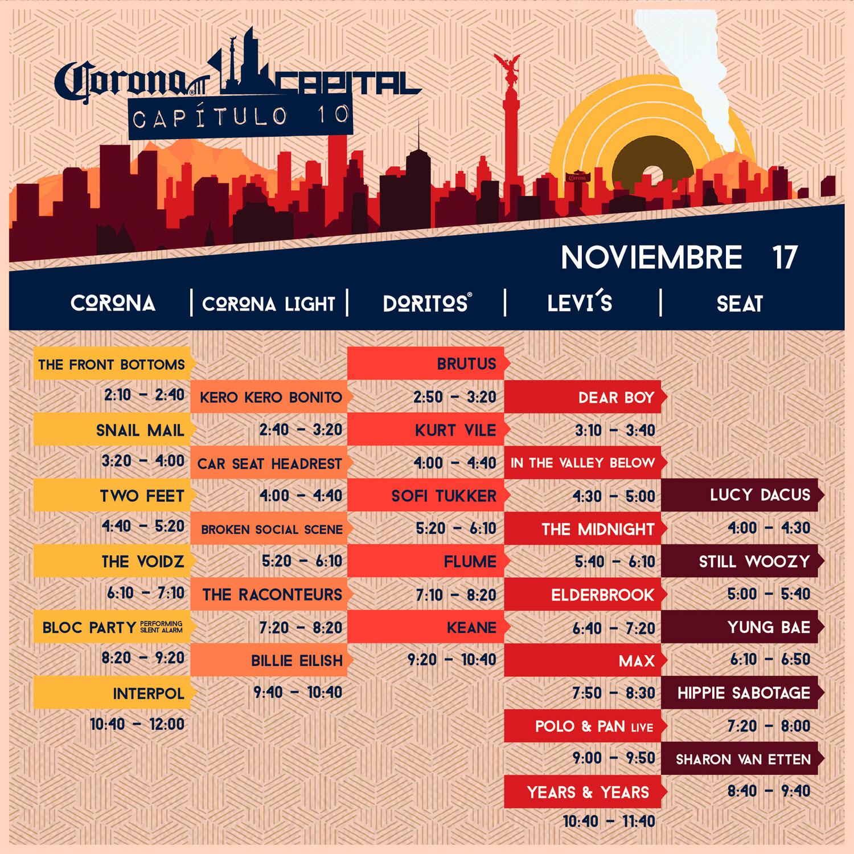 corona capital horarios
