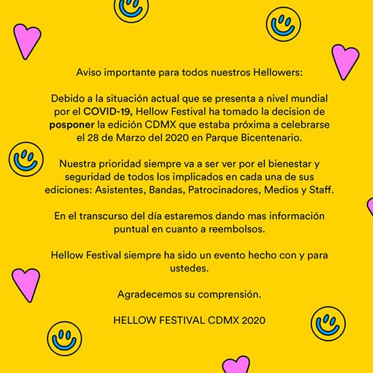 hellow festival aviso