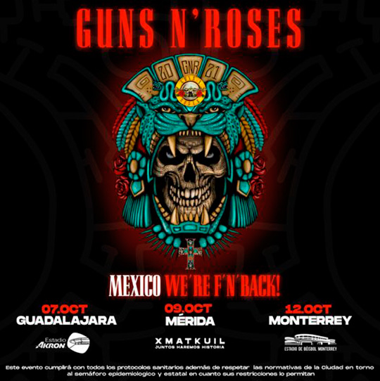 guns n roses mexico2021